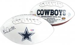 Michael Irvin Dallas Cowboys PSA Autographed Logo Football