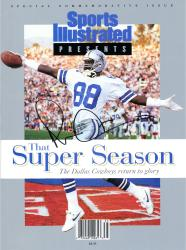 Michael Irvin Dallas Cowboys Autographed Sports Illustrated Super Season Magazine - Mounted Memories