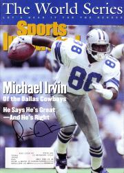 Michael Irvin Dallas Cowboys Autographed Sports Illustrated World Series Magazine - Mounted Memories