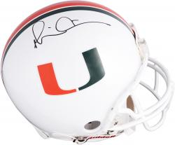 Michael Irvin Miami Hurricanes Autographed Riddell Pro-Line Authentic Helmet - Mounted Memories