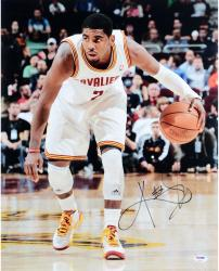 "Kyrie Irving Cleveland Cavaliers Autographed 16"" x 20"" Dribbling Photograph"