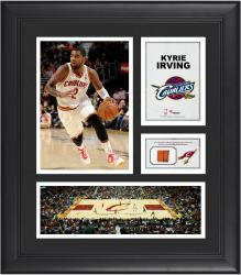 """Kyrie Irving Cleveland Cavaliers Framed 15"""" x 17"""" Collage with Team-Used Ball"""