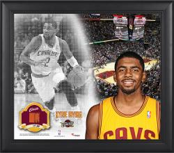 """Kyrie Irving Cleveland Cavaliers Framed 15"""" x 17"""" Mosaic Collage with Team-Used Basketball-Limited Edition of 99"""