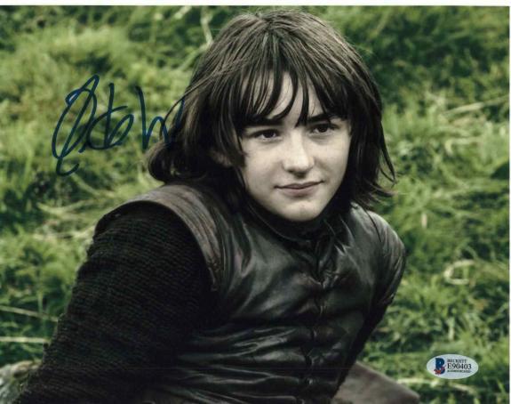 Isaac Hempstead Wright Signed 8x10 Photo Game Thrones Beckett Bas Autograph B
