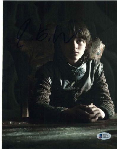 Isaac Hempstead Wright Signed 8x10 Photo Game Thrones Beckett Bas Autograph C