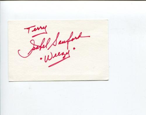Isabel Sanford The Jeffersons All in the Family Rare Signed Autograph