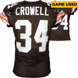 Isaiah Crowell Cleveland Browns Brown Game-Used Jersey December 7, 2014 vs. Indianapolis Colts