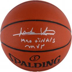"Isiah Thomas Detroit Pistons Autographed Spalding Indoor Outdoor Basketball with ""1990 FINALS MVP"" Inscription"