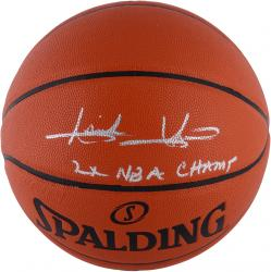 "Isiah Thomas Detroit Pistons Autographed Spalding Indoor Outdoor Basketball with ""2X NBA CHAMPS"" Inscription"