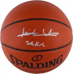 "Isiah Thomas Detroit Pistons Autographed Spalding Indoor Outdoor Basketball with ""ZEKE"" Inscription"