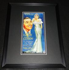 It Happened One Night Framed 11x14 Poster Display Official Repro Clark Gable
