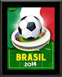 """Italy 2014 Brazil Sublimated 10.5"""" x 13"""" Plaque"""