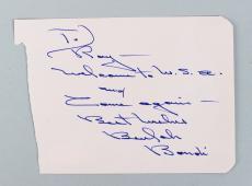 It's a Wonderful Life – Beulah Bondi Signed & Inscribed 3×5 Cut- COA JSA