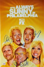 It's Always Sunny (5) Day, DeVito Signed 12x18 Movie Poster PSA/DNA #AB08273