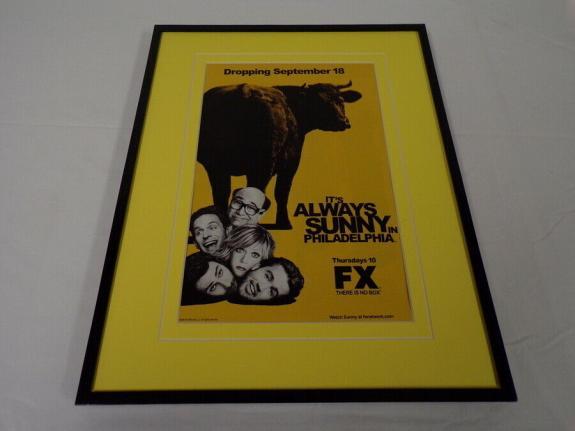 It's Always Sunny in Philadelphia 2008 Framed 11x14 ORIGINAL Advertisement FX