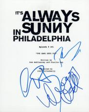 It's Always Sunny in Philadelphia Cast Signed Script by 3 Charlie Day Devito VD