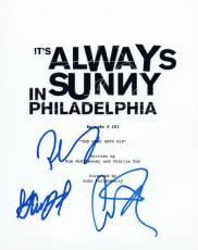 It's Always Sunny in Philadelphia Cast Signed Script by 3 Danny DeVito Rob +1 VD