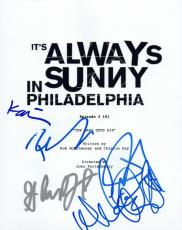 It's Always Sunny in Philadelphia Cast Signed Script by 6 Charlie Day Devito VD