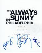 It's Always Sunny in Philadelphia Cast Signed Script Charlie Day Olson Ellis VD