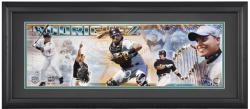 Ivan 'Pudge' Rodriguez Florida Marlins Framed Unsigned Panoramic Photograph with Suede Matte - Mounted Memories