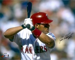 Ivan Rodriguez Texas Rangers Autographed 16'' x 20'' In Batting Stance Horizontal Photograph