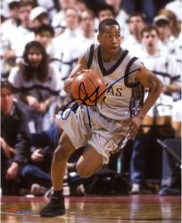 "Allen Iverson Georgetown Hoyas Autographed 8"" x 10"" Dribbling Photograph"