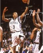 "Allen Iverson Georgetown Hoyas Autographed 8"" x 10"" Shooting Photograph"