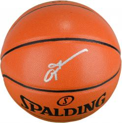 Allen Iverson Philadelphia 76ers Autographed Spalding Indoor Outdoor Basketball - Mounted Memories