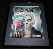 iZombie 2015 CW 11x14 Framed ORIGINAL Advertisement Rose McIver