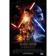 J.J. Abrams Signed 12x18 Star Wars: The Force Awakens Movie Vertical Poster (Beckett Auth)