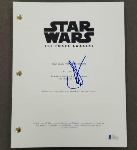 J J ABRAMS signed STAR WARS: THE FORCE AWAKENS Movie Script ~ Beckett BAS COA