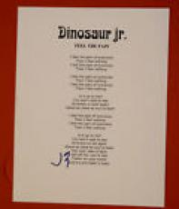 J Mascis Signed Autographed Feel The Pain Dinosaur Jr Lyric Sheet