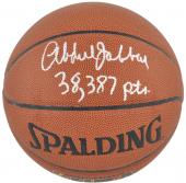 NBA Los Angeles Lakers Kareem Abdul-Jabbar Autographed Basketball with 38387 Pts Inscription