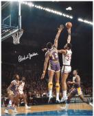 "Kareem Abdul-Jabbar Milwaukee Bucks Autographed 16"" x 20"" vs Los Angeles Lakers Photograph"