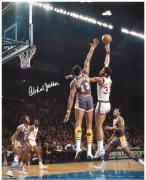 """Kareem Abdul-Jabbar Milwaukee Bucks Autographed 16"""" x 20"""" vs Los Angeles Lakers Photograph"""