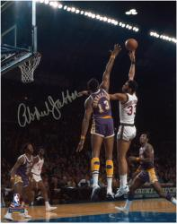"Milwaukee Bucks Kareem Abdul-Jabbar Autographed 8"" x 10"" Photo vs. Los Angeles Lakers - Mounted Memories"