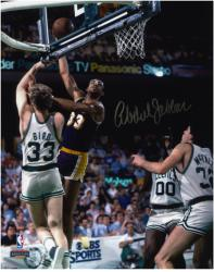 "Los Angeles Lakers vs Boston Celtics Kareem Abdul-Jabbar Autographed 8"" x 10"" Photo - Mounted Memories"