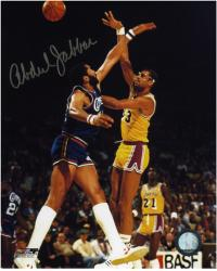 Los Angeles Lakers Kareem Abdul-Jabbar Autographed 8'' x 10'' Photo vs. Los Angeles Clippers