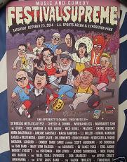 Jack Black & Kyle Gass Tenacious D signed auto 2014 SDCC Festival Supreme poster