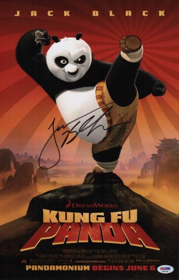 Jack Black Signed Kung Fu Panda 11x17 Movie Poster Psa Coa Ad48196