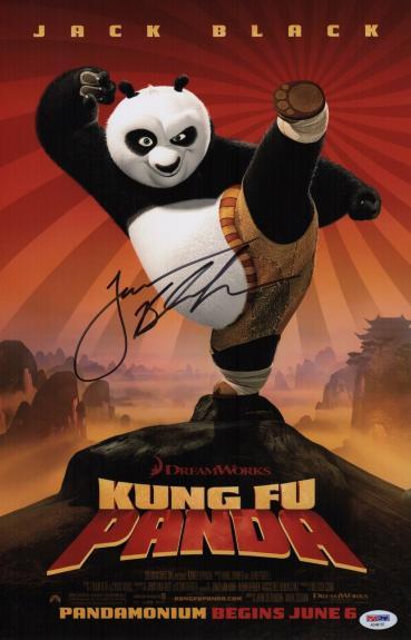 Jack Black Signed Kung Fu Panda 11x17 Movie Poster Psa Coa Ad48197
