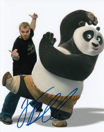 JACK BLACK signed (KUNG FU PANDA) Movie 8X10 *PO* photo W/COA TENACIOUS D #1