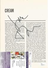 Jack Bruce Cream Music Legend Deceased Signed Autograph 8x10 Mag Page Jsa Coa