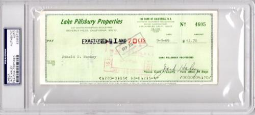 Jack Haley Signed - Autographed bank check - Deceased 1979 - Tin Man actor from The Wizard of Oz - PSA/DNA Certificate of Authenticity (COA) - PSA Slabbed Holder