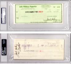 Jack Haley Signed - Autographed bank check signed twice - Deceased 1979 - Tin Man actor from The Wizard of Oz - PSA/DNA Authenticity (COA) - PSA Slabbed Holder