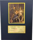 Jack Haley signed Check Wizard Oz 8x10 Photo- 4 sig- Munchkins Mickey Carroll, Jerry Maren, Karl Slover- BAS #A86257