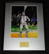 Signed Jack Haley Photo - Framed 16x20 Poster Display RR LOA Tin Man Wizard of Oz