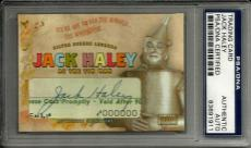 Jack Haley Tin Man WIZARD OF OZ Signed Custom CARD #'d 1/1 PSA/DNA Slabbed