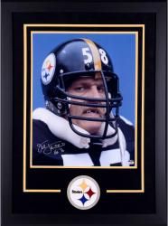 Jack Lambert Pittsburgh Steelers Deluxe Framed Autographed 16'' x 20'' Missing Teeth Photograph with HOF 90 inscription
