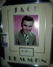 Jack Lemmon Movie Legend Signed Autographed Double Matted & Framed Jsa Coa Rare